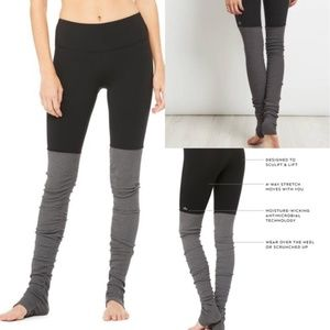 Alo yoga goddess gray and black leggings EUC Small
